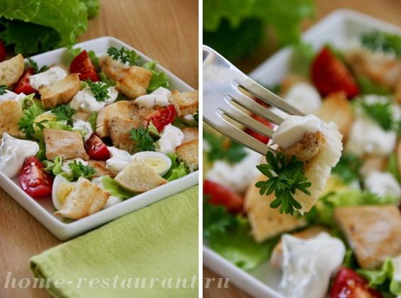 салат с курицей и сухариками фото 16