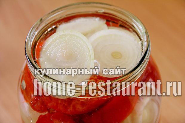 Консервированные помидоры дольками рецепт пошагово