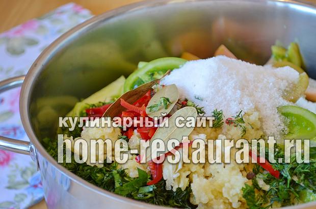 Салат из зеленых помидор на зиму_3