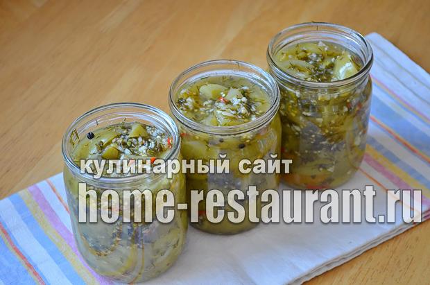 Салат из зеленых помидор на зиму_7