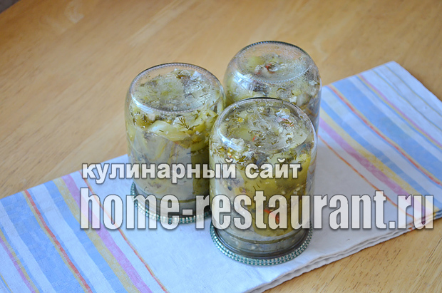 Салат из зеленых помидор на зиму_8