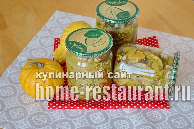 Салат из зеленых помидор на зиму_9