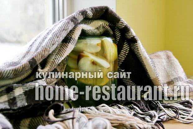 Компот из яблок на зиму с апельсином фото_01