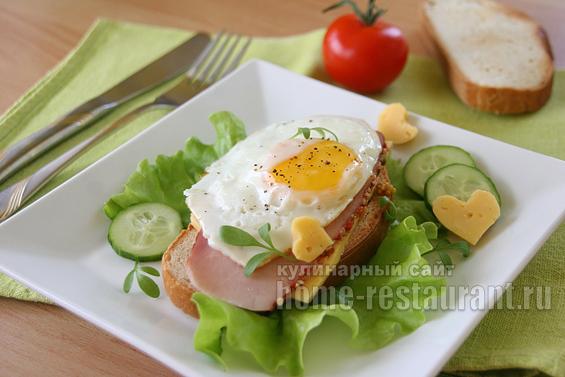 Яичница на тосте фото 9