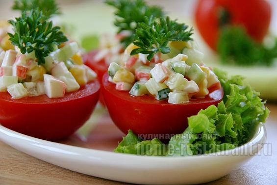 помидоры с крабовыми палочками фото 10
