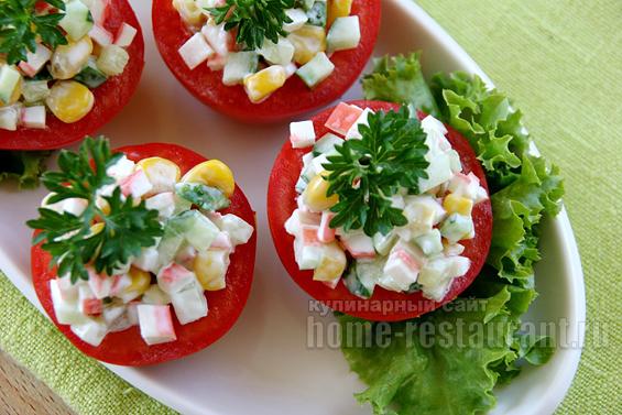 помидоры с крабовыми палочками фото 15