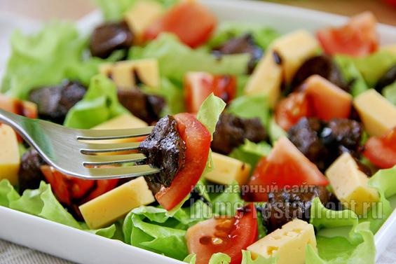 Теплый салат с печенью фото 9