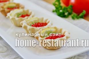 Закуска с красной икрой в тарталетках с сырно-сметанной пастой_8