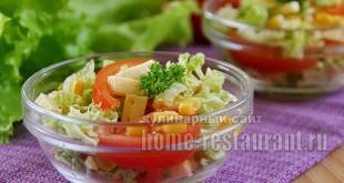 салат из пекинской капусты фото 10