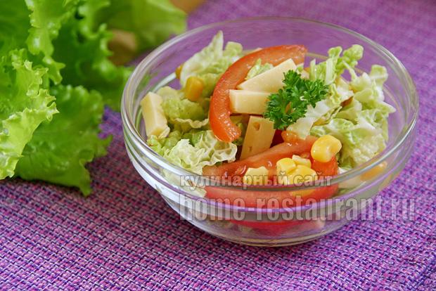 салат из пекинской капусты лёгкий