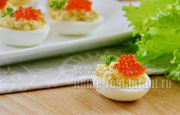 яйца с красной икрой 2
