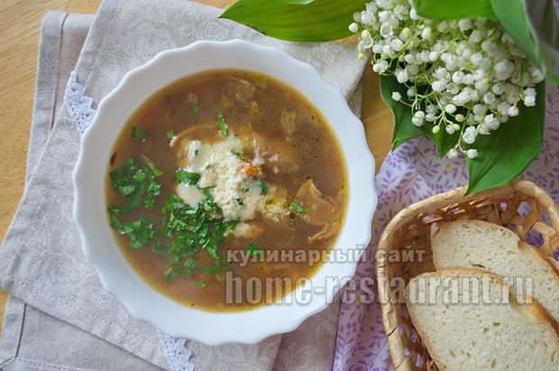 Рецепт грибного супа из сушеных грибов для мультиварки