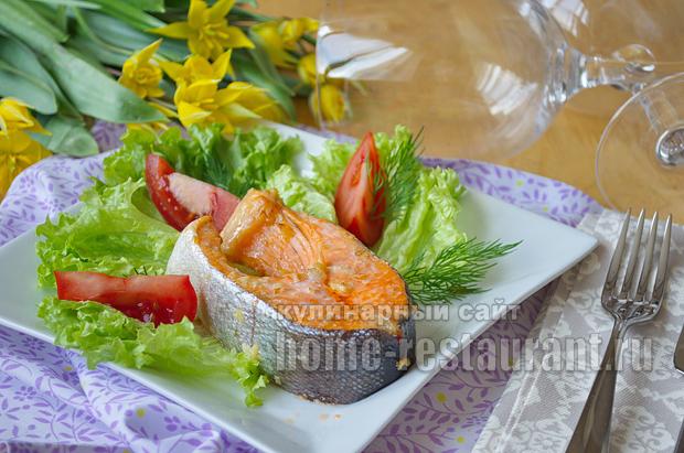 Красная рыба в духовке в имбирно чесночном маринаде_09