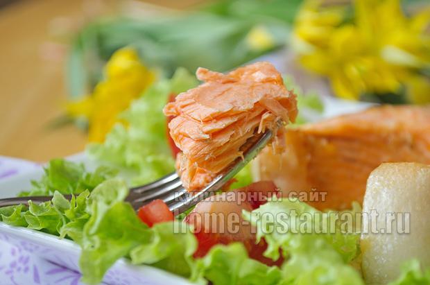 Красная рыба в духовке в имбирно чесночном маринаде_12