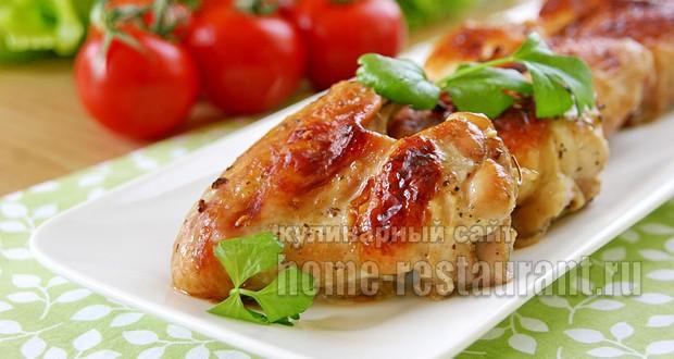 как приготовить крылышки куриные в духовке рецепт