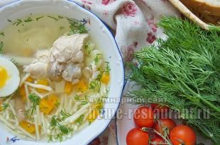 Куриный суп с картофелем и вермишелью _09
