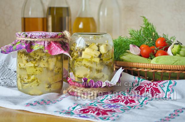 Пикантные кабачки на зиму с горчицей_09
