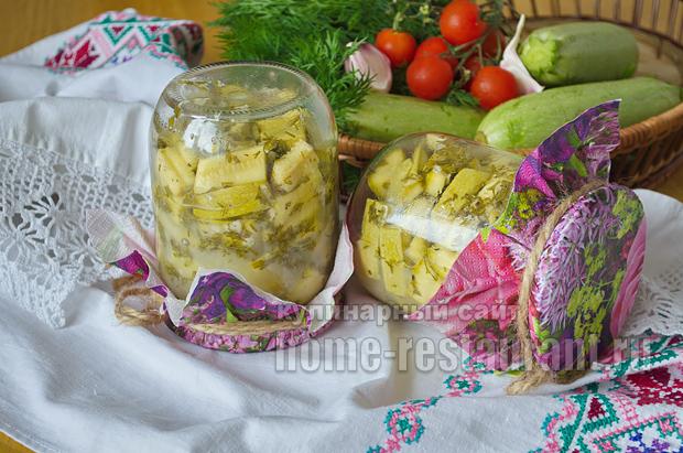Пикантные кабачки на зиму с горчицей_10