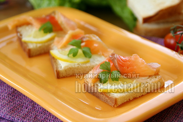 бутерброды с красной рыбой фото 8