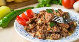 Тушеная говядина с овощами: рецепт с фото