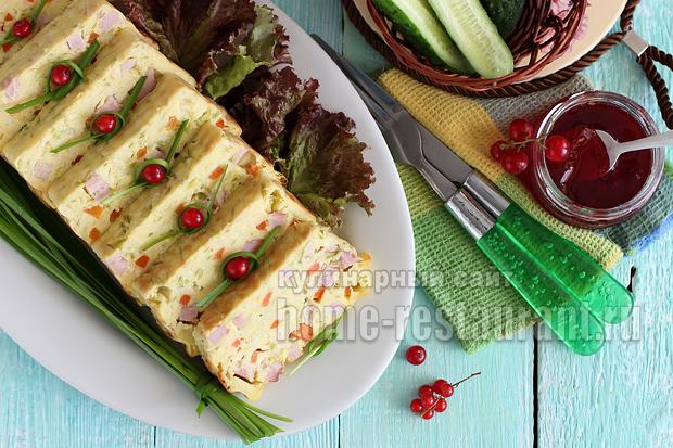 Кабачковый кекс с ветчиной: рецепт с фото