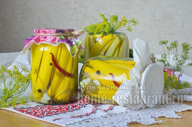 Маринованные кабачки на зиму без стерилизации _08