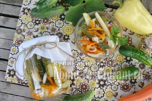 Салат из огурцов на зиму «Ассорти»