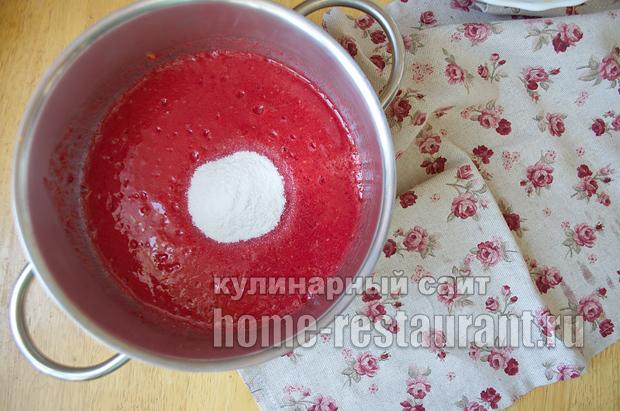 Варенье из персиков- рецепт с малиной и лаймом_06