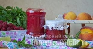 Варенье из персиков- рецепт с малиной и лаймом_15
