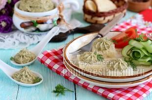 Паштет из кабачков с грибами и плавленым сыром
