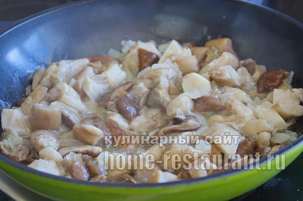 Как жарить белые грибы рецепт с фото пошагово _07