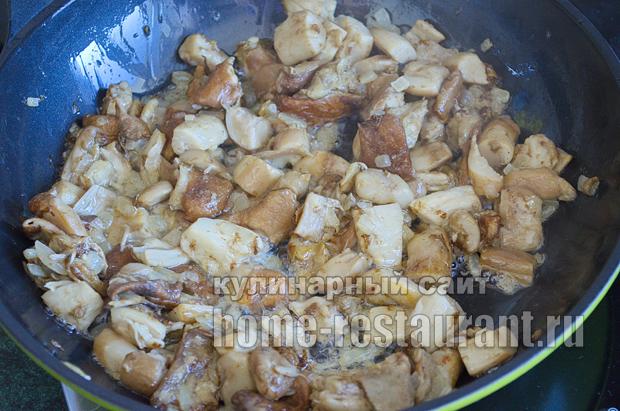 Как жарить белые грибы рецепт с фото пошагово _08