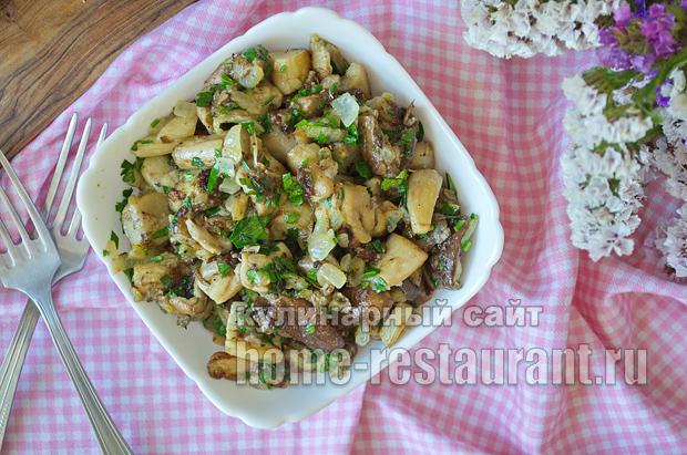 Как жарить белые грибы рецепт с фото пошагово _12