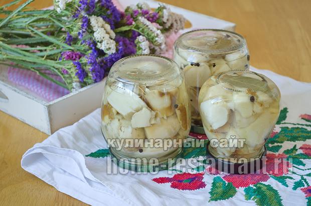Маринованные белые грибы на зиму рецепт с фото_11