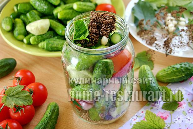 Овощное ассорти на зиму «Огород в банке» в литровых банках_4