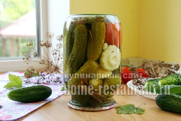 Овощное ассорти на зиму «Огород в банке» в литровых банках_7