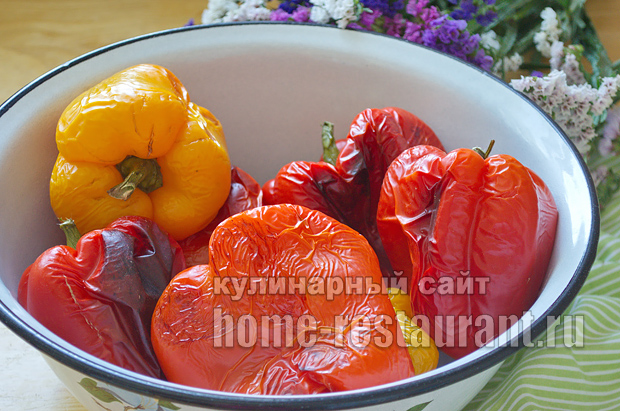 Печеный перец на зиму рецепт с фото_03