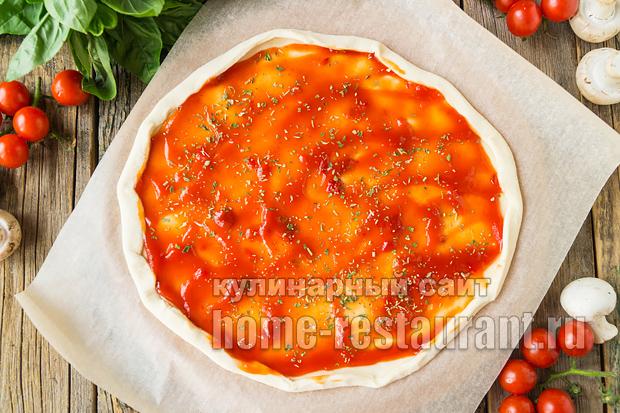 Пицца на слоеном тесте в духовке фото_14