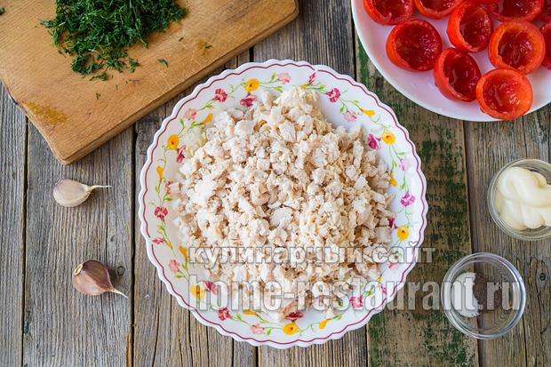 Помидоры фаршированные сыром и курицей_7