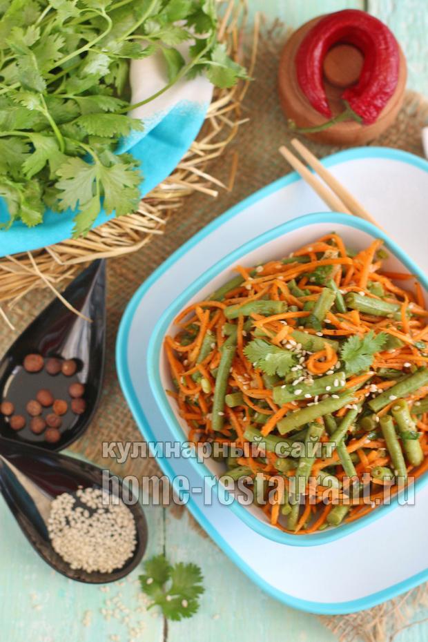 Спаржевая фасоль по-корейски рецепт с фото_02