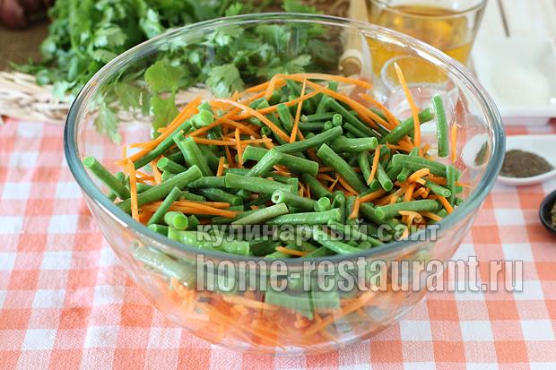 Спаржевая фасоль по-корейски рецепт с фото_09