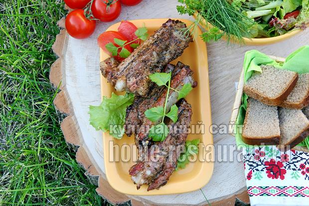 Свиные ребрышки на мангале- рецепт с фото _2