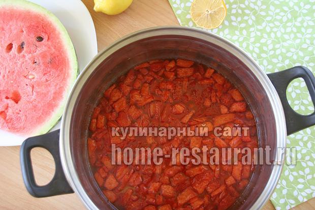 Варенье из арбуза с лимонной цедрой фото 5