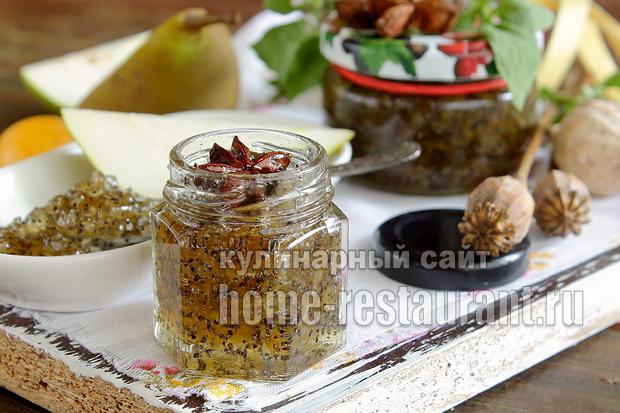 Варенье из груш на зиму с маком- рецепт с фото_05