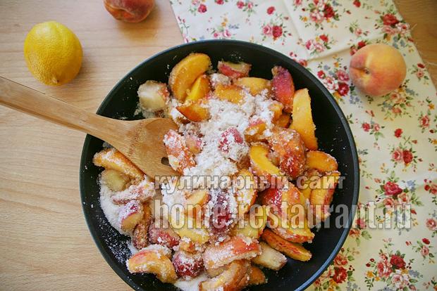 Варенье из персиков на сковороде фото 3