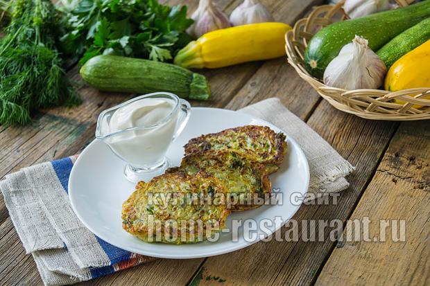 кабачковые оладьи рецепт без яиц в духовке