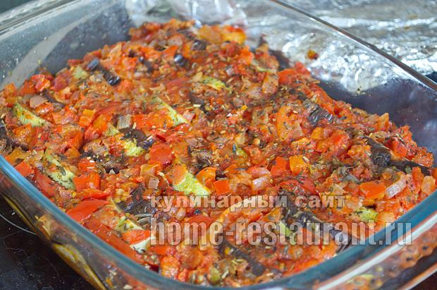 рецепт рататуя с фаршем в духовке рецепт