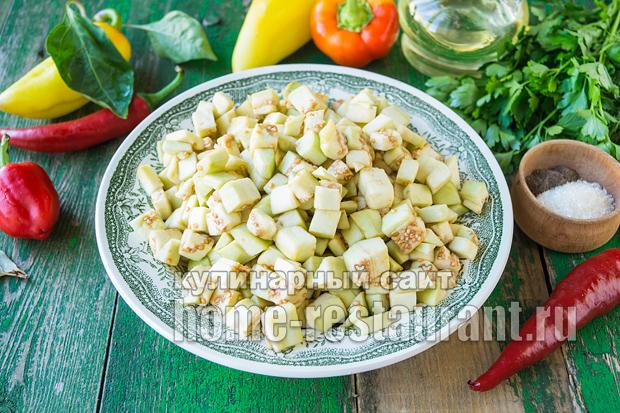 Салат «десяточка» на зиму с баклажанами_12