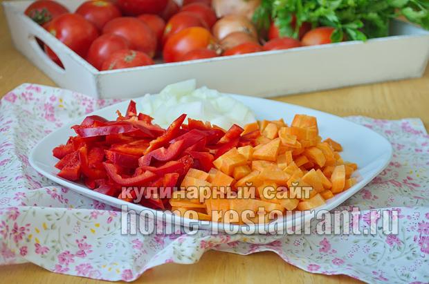 Салат из баклажанов на зиму с рисом фото_05