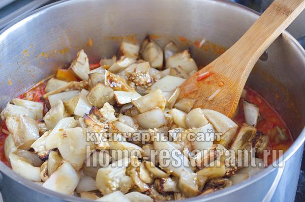 Салат из баклажанов на зиму с рисом фото_13